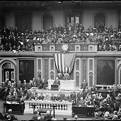 President Wilson before Congress (Library of Congress, 1913)