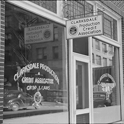 Clarksdale Production Credit Association, Mississippi (Library of Congress, 1939)