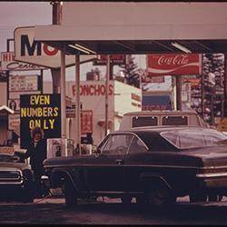 Odd/even number license plate restrictions during gas crisis of 1973-74, Oregon (U.S. National Archives, David Falconer, 1973)