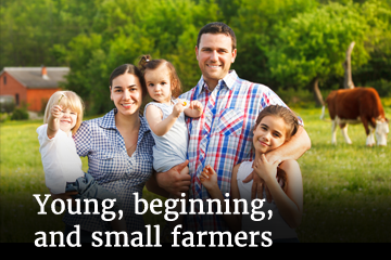 Young, beginning and small farmer lending