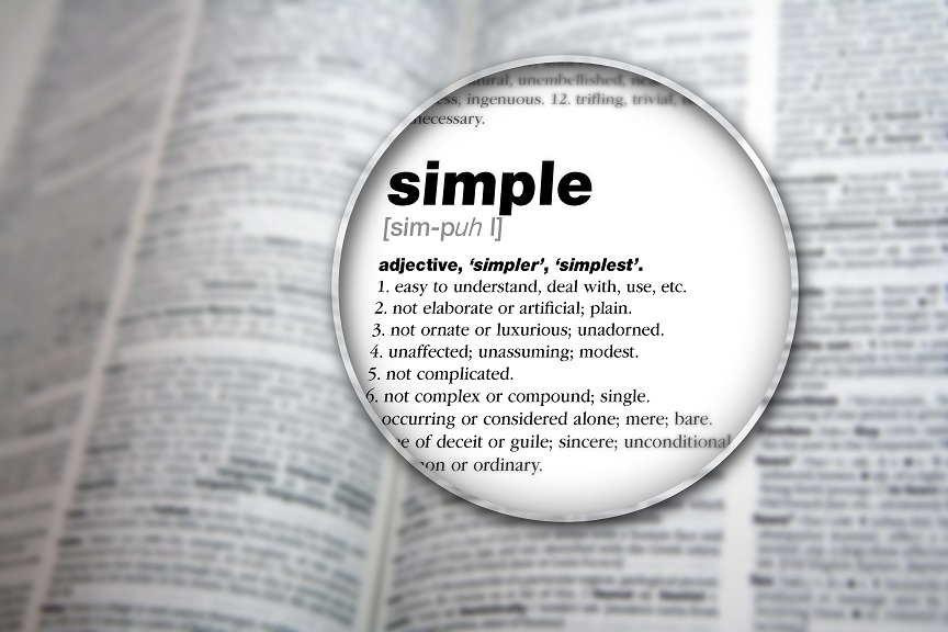 Image of dictionary entry for simple
